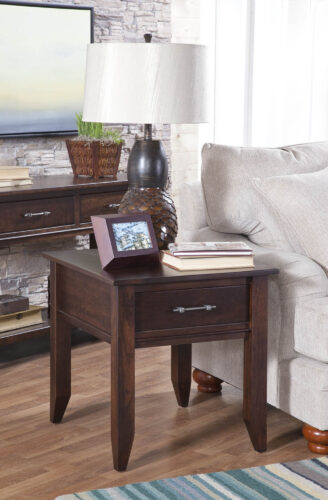 Custom Cortland End Table with Drawer