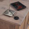 Custom Wrightsville Executive Desk Grommet Detail