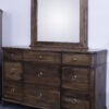 Custom Montour Nine Drawer Dresser with Mirror