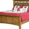 Amish Fenwood Bed shown in Oak