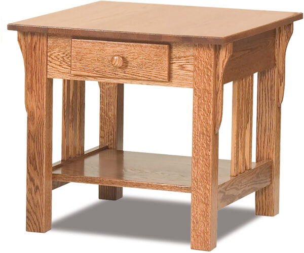 Custom Slat Mission Collection End Table