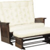 Amish Finley Deluxe Glider Loveseat with Glider Ottoman