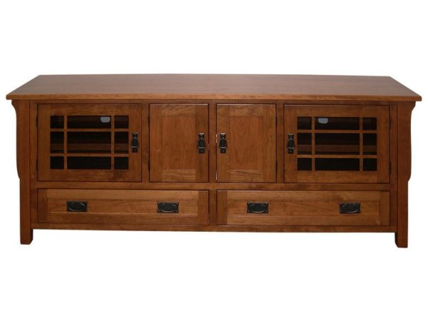 Amish Landmark Custom Plasma TV Cabinet