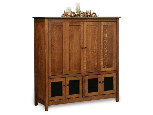 Amish Centennial Six Door Entertainment Center