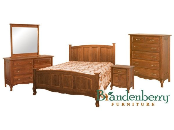 Amish French Country Bedroom Set - Brandenberry Amish Furniture