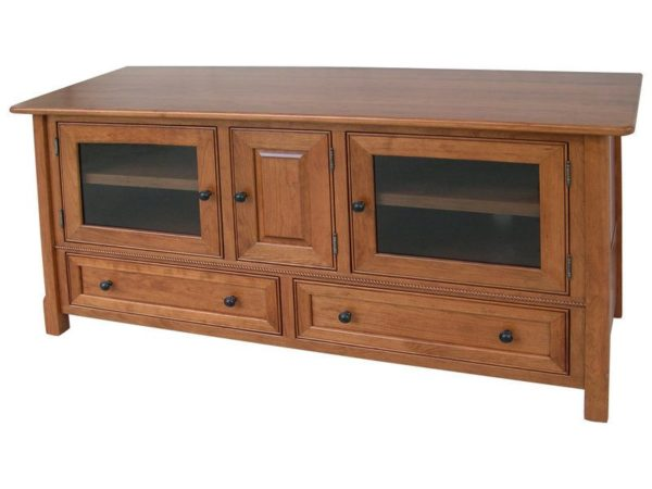 Amish Cherry West Lake Flat Screen TV Cabinet