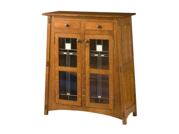 Amish McCoy Two Door Cabinet with Glass Panels