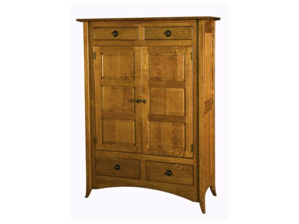 Amish Shaker Hill Two Door Cabinet with Raised Panels