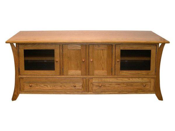 Amish Caledonia Oak 72 Inch Plasma TV Cabinet