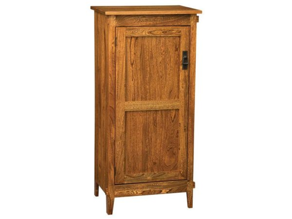 Amish Deluxe Mission One Door Jelly Cupboard