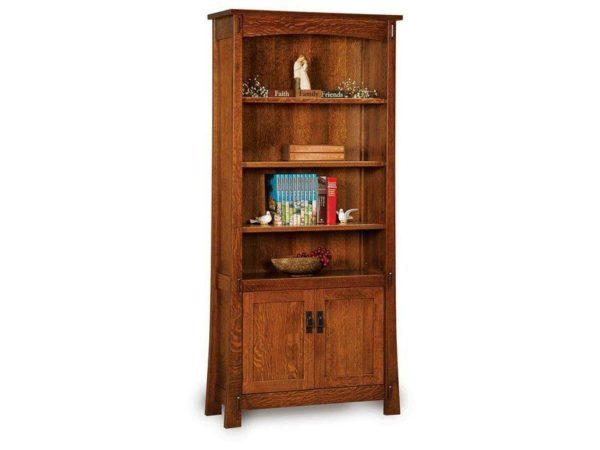 Amish Modesto Two Door Bookcase