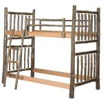 Amish Hickory Twin Bunk Bed