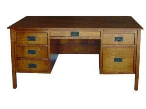 Amish Post Mission Flat Top Desk