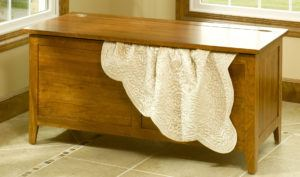Solid Wood Shaker Blanket Chest