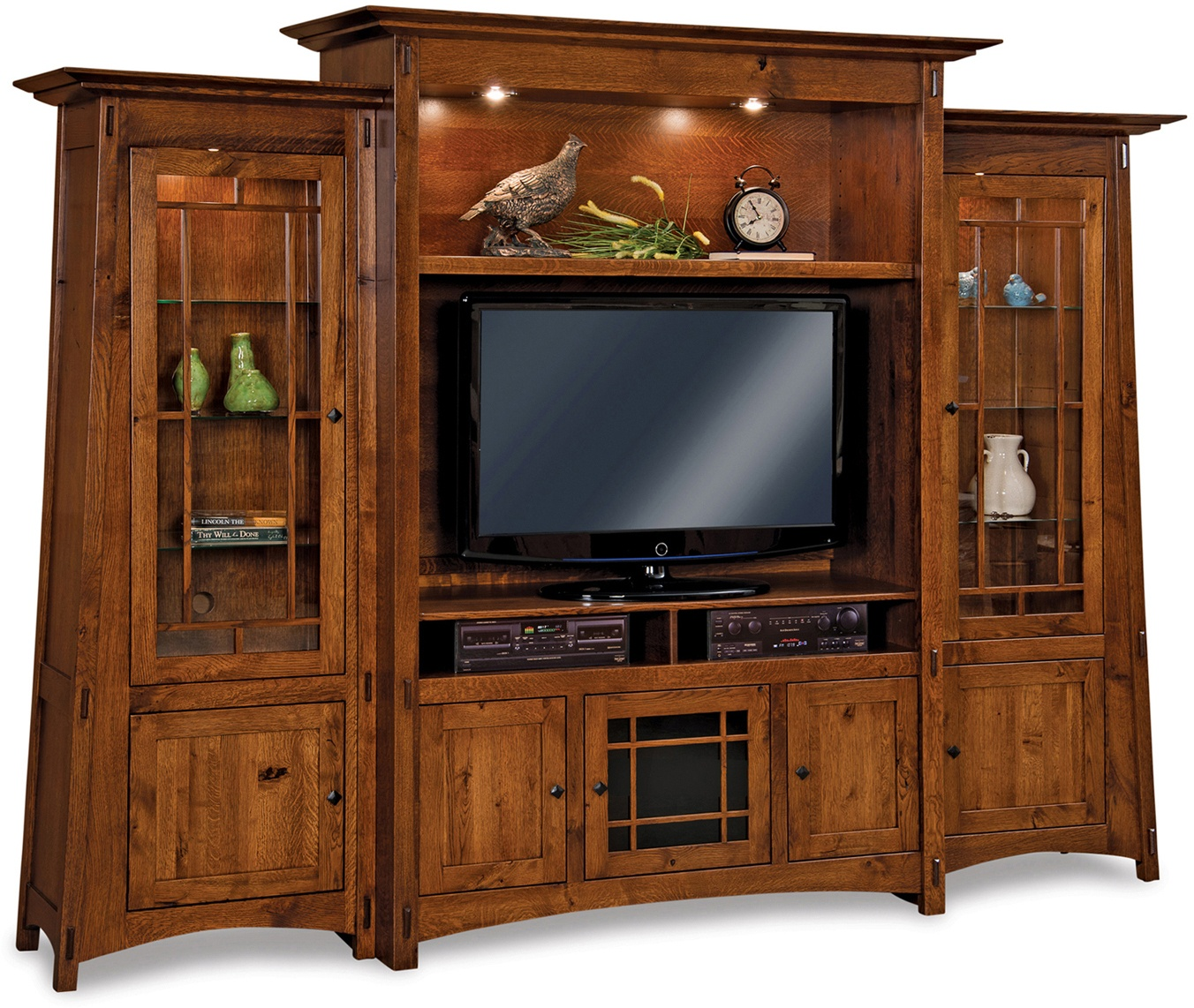 Large Amish Colbran Wall Entertainment Center