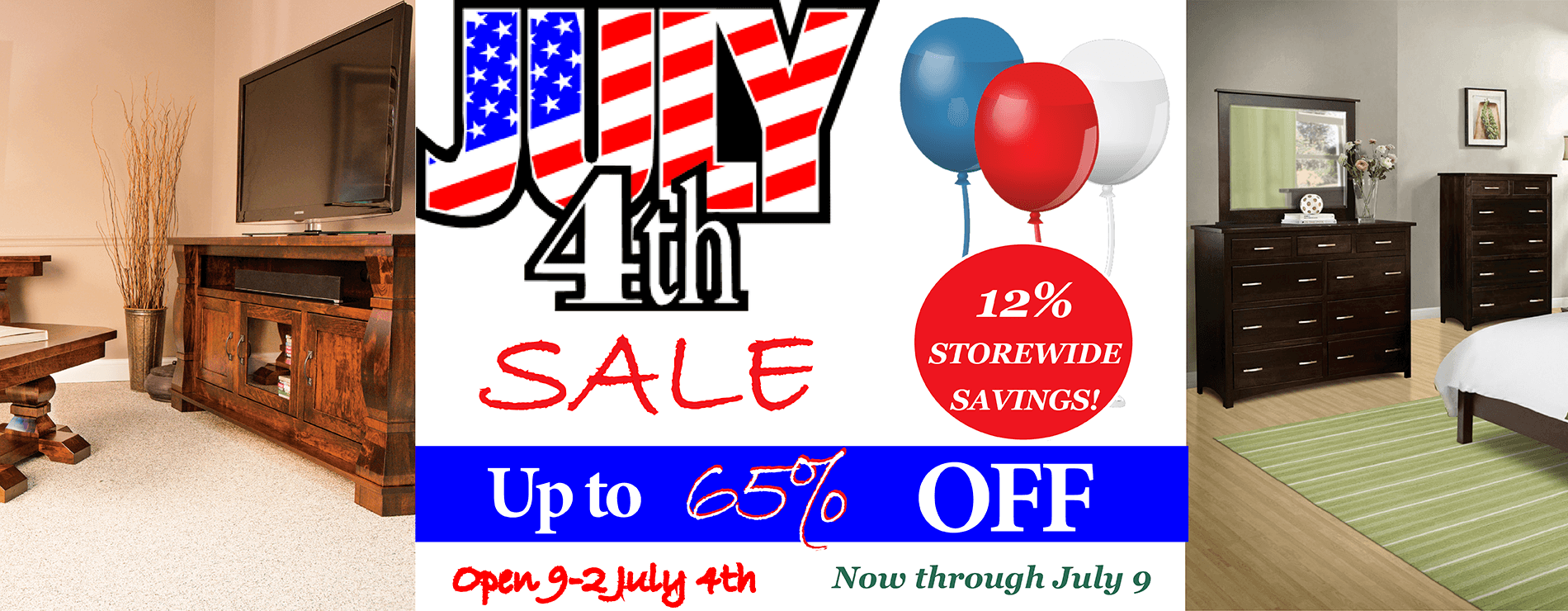 July 4th Brandenberry Amish Furniture Sale