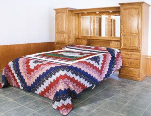 Solid Wood Country Pier Bed