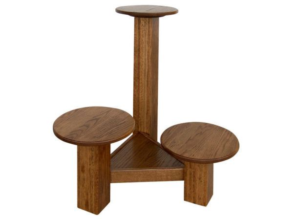 Wood Three Level Plant Stand