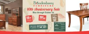 Brandenberry Amish Furniture 10th Anniversary Furniture Sale