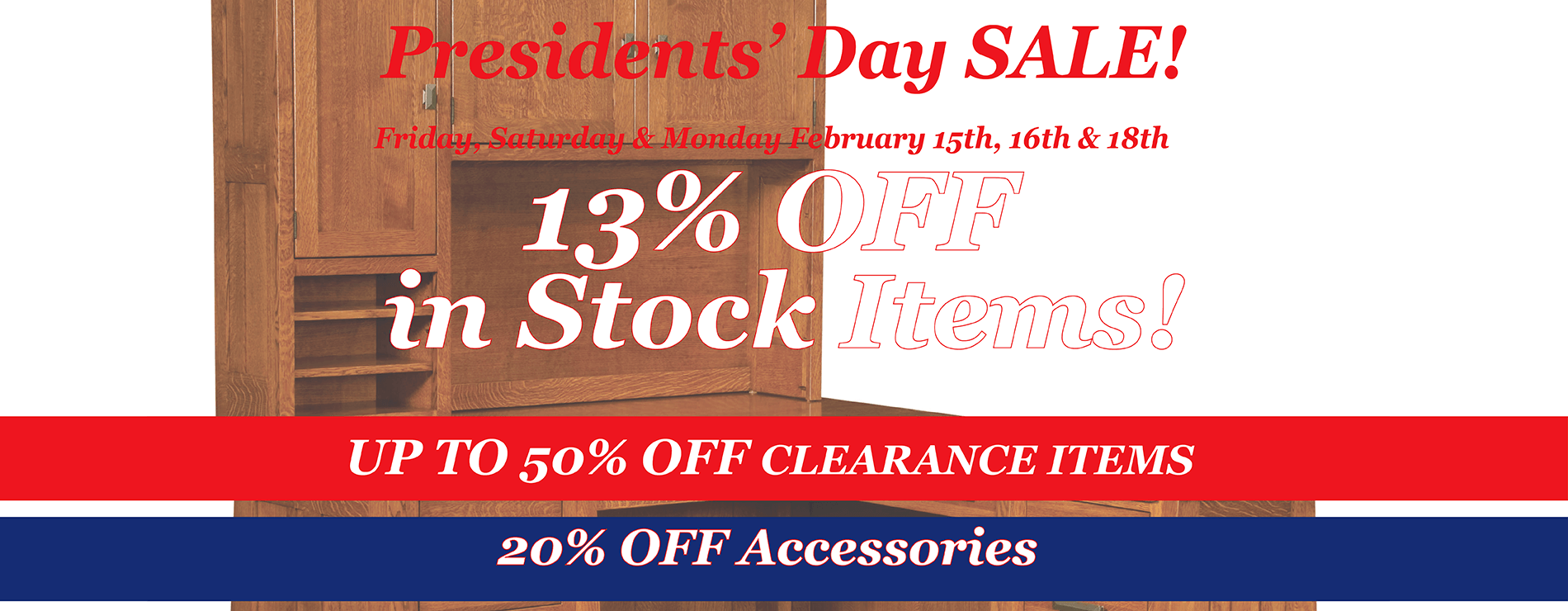 Amish Furniture Website Presidents Day Sale 2019