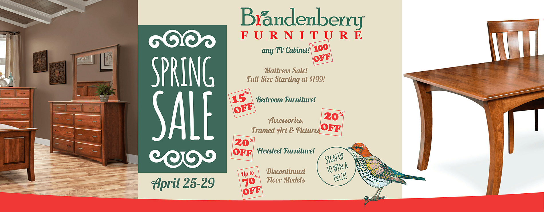 Brandenberry Spring Amish Furniture Sale 2019