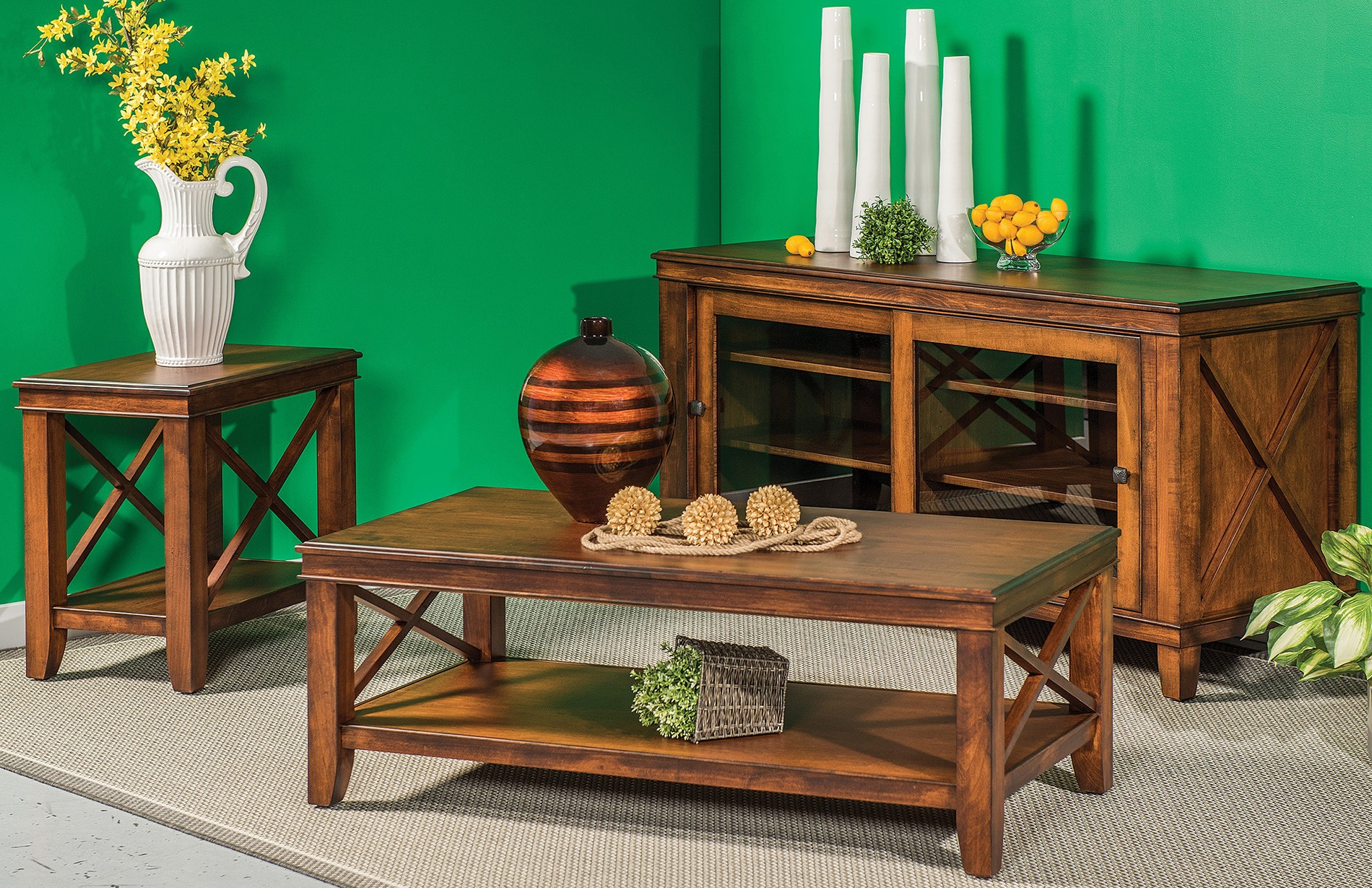 Solid Wood Newport Living Room Collection