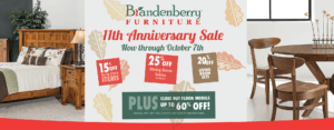 Brandenberry Amish Furniture Anniversary Sale Information