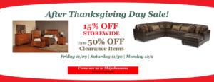 Brandenberry Amish Furniture After Thanksgiving Sale 2019 Information