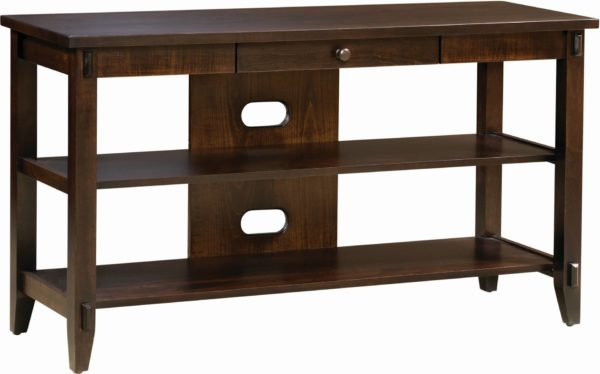 Amish Bungalow Open TV Console