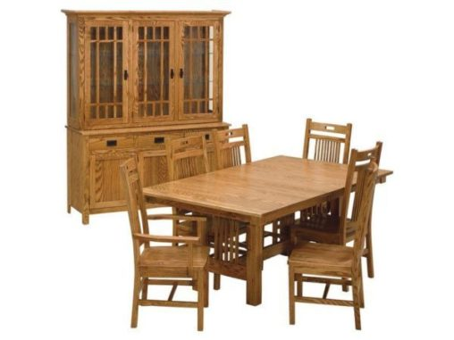 5-Piece Round Table Bench Set with Open Benches