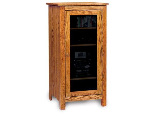 Amish Mission Oak Stereo Cabinet