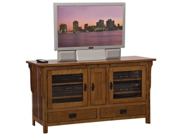 Amish Straight Royal Mission Wide TV Stand