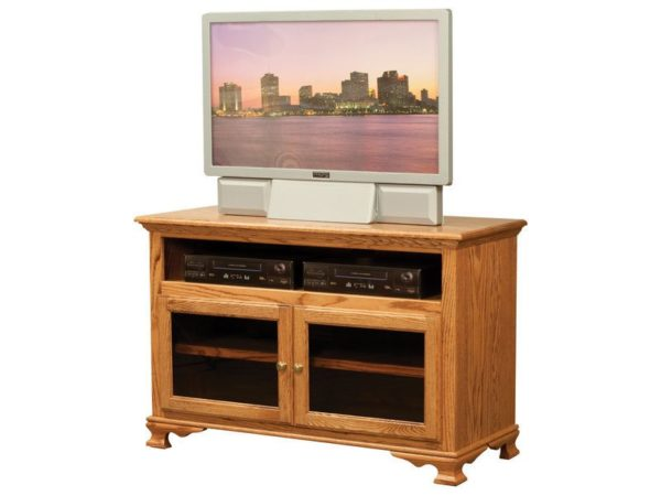 Amish Heritage TV Unit with Glass Doors