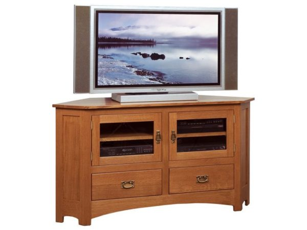 Amish Mission Large Corner TV Stand