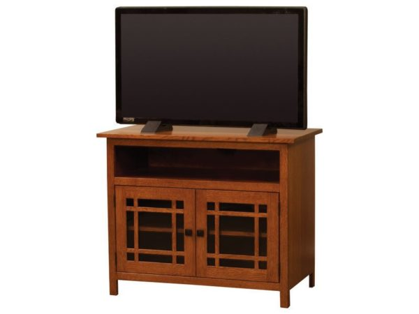 Amish Mission Small Two Door TV Stand