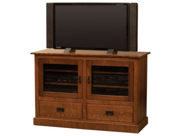 Amish Mission Two Drawer TV Stand