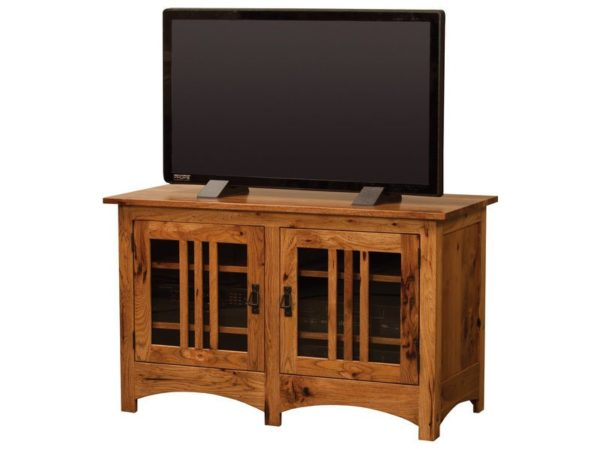 Amish Mission Two Mullioned Door TV Stand