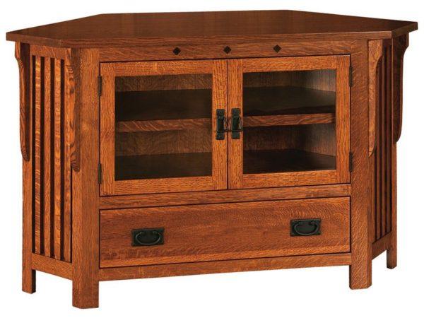 Amish Straight Royal Mission Corner TV Stand