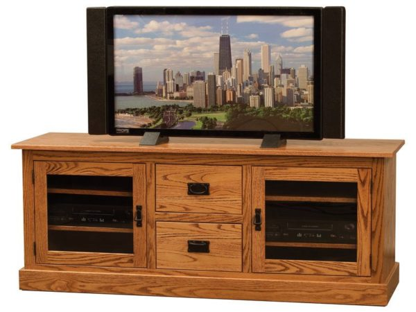 Amish Mission Wide Two Door TV Stand